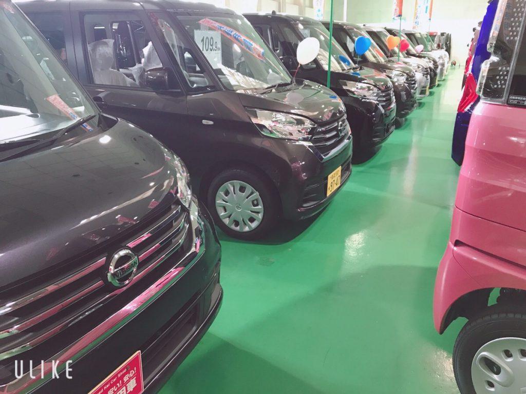 青森産業会館で行われたATVあおもり軽まつりの展示車