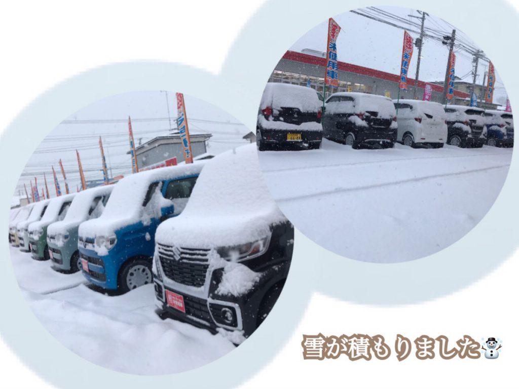 十和田の軽自動車サンライズ十和田店の積雪